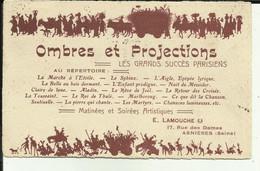 """92 - Hauts De Seine - Asnières - Rare Carte """" Ombres Et Projections """" - E.Lamouche - 17 Rue Des Dames - - Asnieres Sur Seine"""