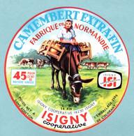 Fromage - étiquette Camembert Isigny Sainte Mère - La Laitière Sur âne Ou Quéton - état Neuf - Cheese