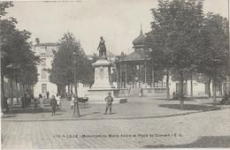 R3-59) LILLE -  MONUMENT DU MAIRE ANDRE ET PLACE DU CONCERT - (ANIMEE - 2 SCANS) - Lille