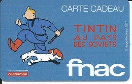 CARTE CADEAU - FNAC - TINTIN - Gift Cards
