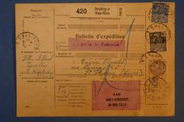 F5 FRANCE PLI  BULETIN D EXPEDITION 1931 DRULINGEN POUR ST ETIENNE PAR IVRY AVRICOURT +TP VERSO - Brieven En Documenten
