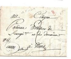 (C09) MARQUE 75 / PARTHENAY ROUGE - LETTRE => NIORT 1804 - 1801-1848: Precursori XIX