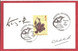 Y&T N° 4131 FDC Sur Carte 2008 (signé) - Covers & Documents