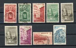 MONACO - VUE - N° Yvert 171+171A+172+174+177+177A+178+180+181 Obli. - Oblitérés