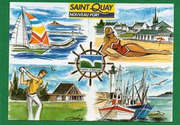 22 Saint- Quay-Portrieux Nouveau Port CPM  Multivues   Dessin André Coupé EDIT D'art JACK - Saint-Quay-Portrieux