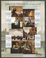 Grenada 2008 - Large MNH Sheet (3) PAINTINGS JOHANNES VERMEER - TOKYO METROPOLITAN ART MUSEUM - Otros