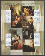 Grenada 2008 - Large MNH Sheet (4) PAINTINGS JOHANNES VERMEER - TOKYO METROPOLITAN ART MUSEUM - Otros