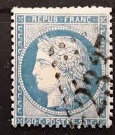 CERES SIEGE DE PARIS No 37, 20 C Bleu Obl GC 2337 De METZERWISSE ,Moselle Ou Bureau Reattribue LOMME,Nord, TB - 1870 Beleg Van Parijs