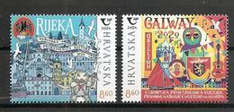 CROATIA 2020, JOINT ISSUES HRVATSKA CROATIA IRELAND,TOWN RIJEKA,GALWAY,MNH - Kroatië