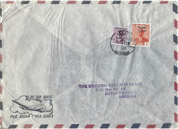 Iraq 1959 Basrah King Faisal Overprint 100 Fils High Value Censored Cover - Iraq