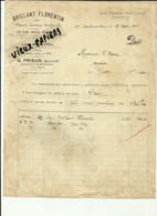 """52 - Haute Marne - Joinville  - Facture G.Prieur - """" Brillant Florentin """"  - 1924 -Réf.46. - 1900 – 1949"""