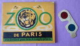 Zoo De Paris En Relief Par Les Anaglyphes - Livre Souple  Plus Lunette 3d - Animaux - - Otros