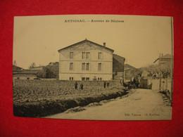 34 Autignac 1917 Avenue De Béziers Animée Maison Cros Frères éditeur Casties Cl Roubieu Dos Scanné - Otros Municipios