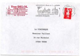 GIRONDE - Dépt N° 33 = LIBOURNE DOUMAYRE 1997 = FLAMME SECAP Illustrée  'CONFLUENT GRANDS VINS' + DELOL + GUEYROSSE - Maschinenstempel (Werbestempel)