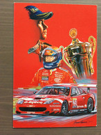 Cartolina In Bianco Ferrari Club Cento Del 2004 Dedicata A Thomas Biagi - Motorsport