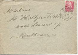 LETTRE 1946 AVEC CACHET HEXAGONAL DE BOURGFELDEN - Elsass-Lothringen