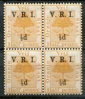 Orange Free State Mi# 23 (1.Auflage) Postfrisch/MNH Fourblock - Heraldic Tree - Oranje-Freistaat (1868-1909)