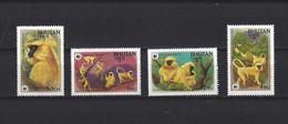 Bhoutan: 621/ 624 **  Singes - Scimmie