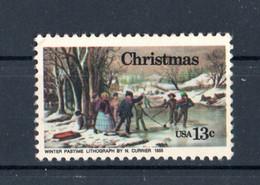 Stati Uniti - USA :  NATALE - Quadro Di N.Currier - 1 Val.  MNH**   27.10.1976 - Estados Unidos