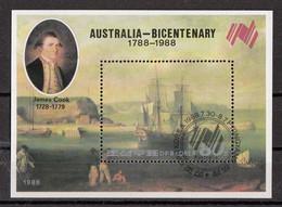DPR Korea 1988 Sc. 2759 James Cook Australia Sheet Perf. CTO - Explorers