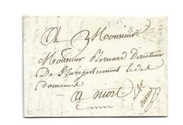 (C09) MARQUE 75 / SAUZE - LETTRE => NIORT 1815 - 1801-1848: Precursori XIX