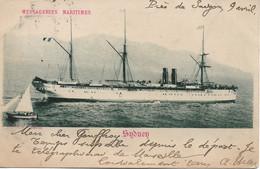 L220A056 - Messagerie Maritimes - Sydney - France Saïgon - Phototypie Dalmouth - Carte Précurseur - Steamers