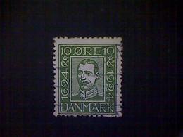 Denmark (Danmark), Scott #167, Used (o), 1924, King Christian X, 10ø, Green - Usati