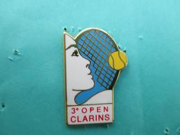 Pins Arthus Bertrand , 3° Open CLARINS, Tennis, ( Bercy ??? ) , Cosmétiques, Parfum, Produits De Beauté - Arthus Bertrand