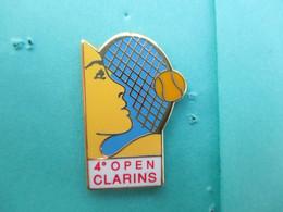 Pins Arthus Bertrand , 4° Open CLARINS, Tennis, ( Bercy ??? ) , Cosmétiques, Parfum, Produits De Beauté - Arthus Bertrand