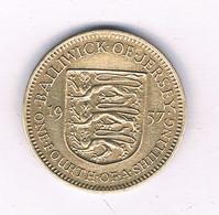 1/4 SHILLING 1957  JERSEY /8330/ - Jersey