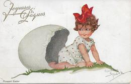 L220A063 - Joyeuse Pâques - Dessin De Fillette Sortant D'une Coquille D'oeuf - Chicky Spark - AV  N°623 - Easter