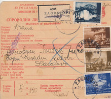 Croatia WWII 1942 Packet Card (old Yugoslav Form) Mixed Franking , Certificate Ercegovic HFS - Croatia