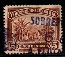 "A196K-COLOMBIA- 1932 - PRIVATE MAIL CARRIER - ""LA FLOTA SANTA FE""- SOBREPORTE - Colombia"