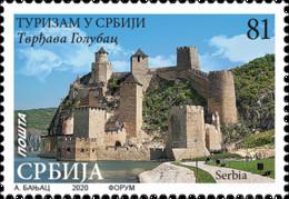 Serbia - 2020 - Tourism In Serbia - Golubats Fortress - Mint Stamp - Serbia