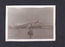 Photo Originale Vintage Snapshot Aviation Aeroport Bruxelles Airport Avion SABENA    (43805) - Aviation