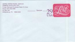 E146 - ETATS UNIS USA ENTIER ENVELOPE LOVE EPREUVE - 1981-00