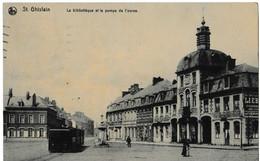 St. Ghislain - La Bibliothèque Et La Pompe De L'ourse - Saint-Ghislain