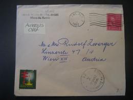 Vereinigte Staaten 1952- Luftpost Zensurbeleg Von Miami Nach Wien - Covers & Documents