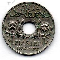 Liban  - 1 Piastre 1936 -  état  TTB - Libano
