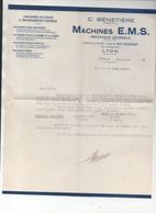 Lyon (39 Rhône) : Lettre C BENETIERE  Machines EMS  1946 (PPP25216) - Non Classificati