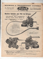 Lyon Villeurbanne  (39 Rhône) : Prospectus RGA Machine Pour Polir Les Sols (PPP25217) - Non Classificati