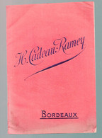Bordeaux  (33 Gironde) Catalogue CADEAU-RALEY  Graines Légumes Fruits, Arbres Et Arbustes 1914-15 (M0955) - Pubblicitari