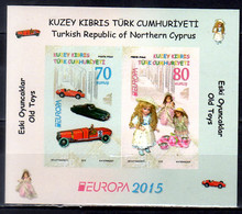 2015 Northern Cyprus (Turkish Cyprus) Europa CEPT Old Toys MS Imperforated MiNr. 810 - 811 (Block 32) - 2015