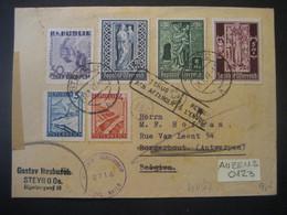 Österreich 1947- Zensurbeleg Gelaufen Von Steyr Nach Antwerpen Mit Ankunftstempel, Retourstempel Zurück Nach Steyr - 1945-.... 2. Republik