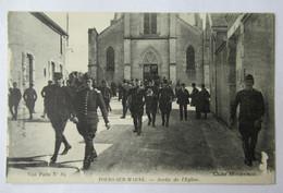Tours Sur Marne - Sortie De L'Eglise - Nombreux Soldats - Cliché Mocquereau - Altri Comuni