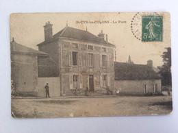 St-Cyr-les-Colons (Yonne- 89) : La Poste - Animée, Circulée 1915 - Usée - Other Municipalities