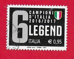 ITALIA REPUBBLICA USATO 2017 - Juventus Campione D'Italia - 0,95 € - S. 3769 - 2011-...: Afgestempeld