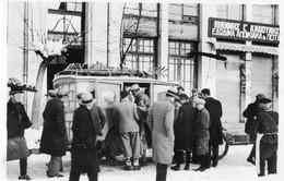 Photographie Anonyme Vintage Snapshot Camion Hiver Truck Neige Grèce ? - Eisenbahnen