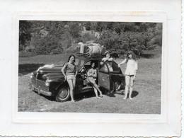 Photo 203 Peugeot Avec Jeunes Femmes Format 8/10 - Automobile