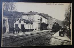 CPA - GANGES (34) - La Gare - Ganges